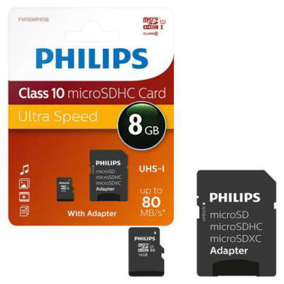 Phillips 8Gb microSDHC Class 10 kártya