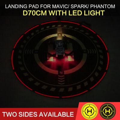 Összehajtható kétoldalas, LED-fényes drón leszálló zóna (70 cm)