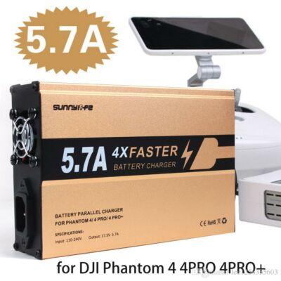 DJI Phantom 4/4Pro/4Pro+ UltraPower párhuzamos töltő (3 akku+táv)