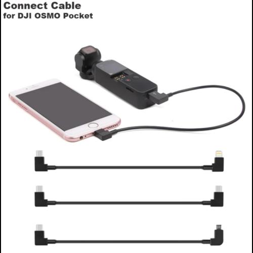 DJI Osmo Pocket adatkábel (USB-C / Micro USB, 30 cm)
